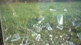 Broken and Shattered glass with slow motion - 203426574