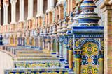 ornament tiles at plaza de españa in Seville , Spain - 203432586