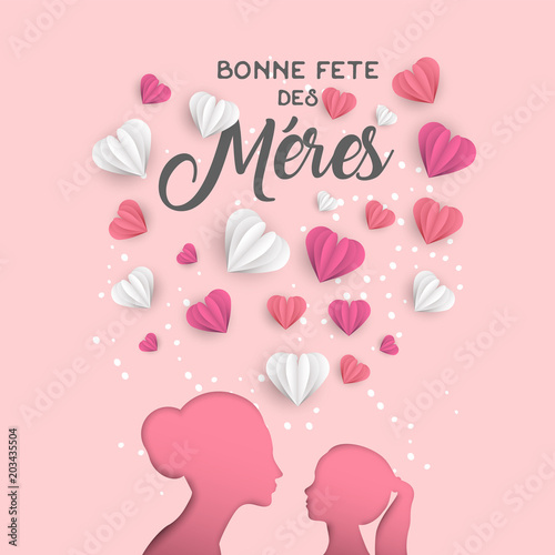 Mother day french card for family holiday love © cienpiesnf