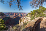 South Rim Grand Canyon with a clear blue sky