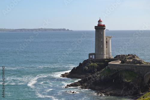 Fotobehang Vuurtoren Le phare du petit Minou en Bretagne
