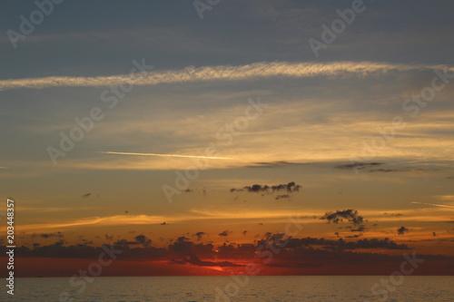 Aluminium Zee zonsondergang Sunset