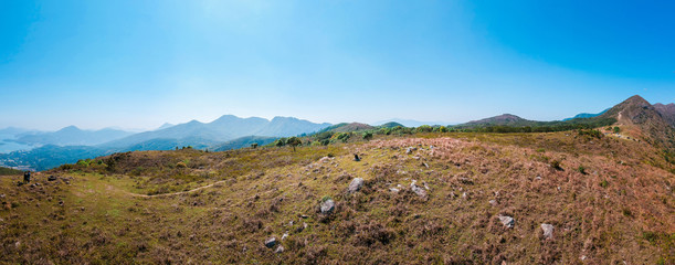 Panorama of highlands in Sai Kung © aheiay