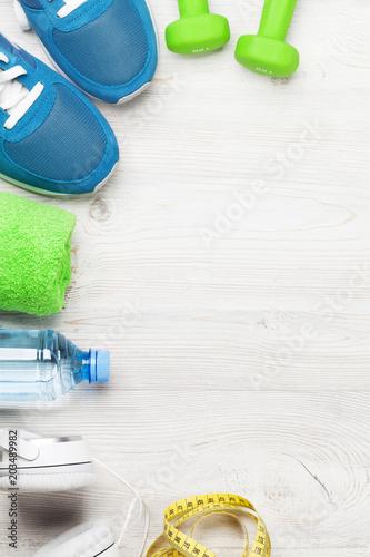 Sticker Fitness concept background