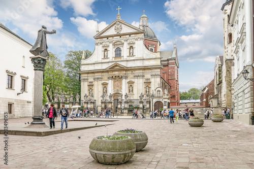 Aluminium Krakau KRAKOW, POLAND - MAY 20, 2017: Saints Peter and Paul Church