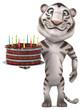 Fun tiger - 3D Illustration