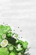 Green Vegetables On White