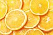 Fresh Orange Slices Background. Top View.
