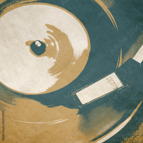 Canvas Vintage Poster retro music background poster