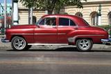 Old classic car parked in Havana, Cuba