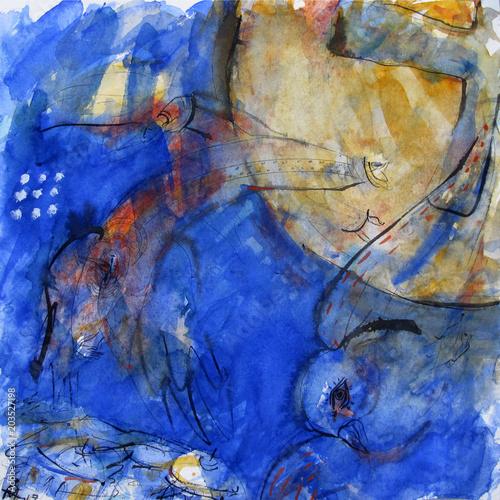 Plexiglas Donkerblauw Bread Хлеб