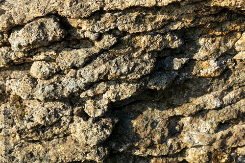 Canvas Stenen Close up of natural rock texture No.4