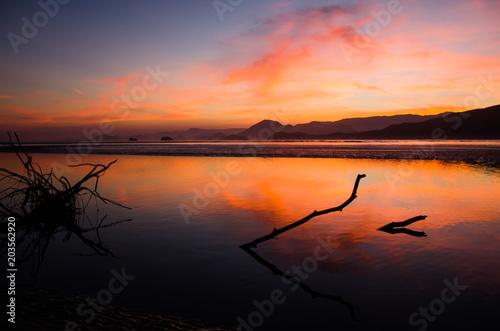 Aluminium Oranje eclat Sunset Ubatuba