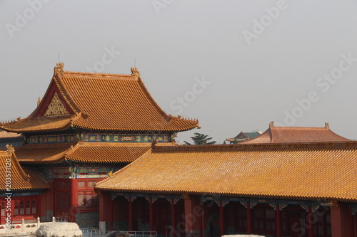 Fotobehang Peking roofs and ornaments of The Forbidden City.4.