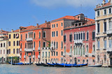 Famous water street   Grand Canal in Venice Italy.