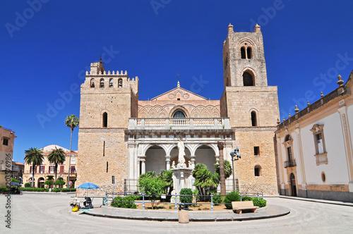 Plexiglas Palermo Cathedral Santa Maria Nuova of Monreale near Palermo in Sicily Italy.