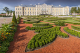 Rundale palace, former summer residence of Latvian nobility with a beautiful gardens around. - 203581197