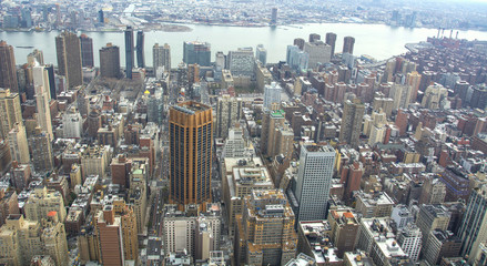 Downtown of New York in the top