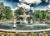Fountain of Forsyth Park in Savannah, Georgia - USA