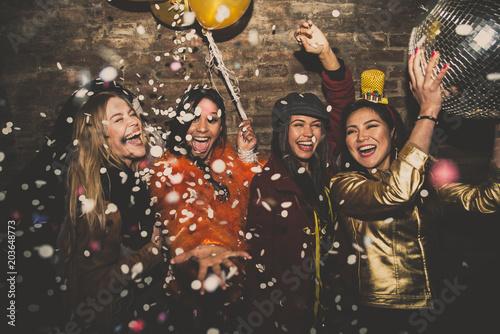 Group of girls celebrating...