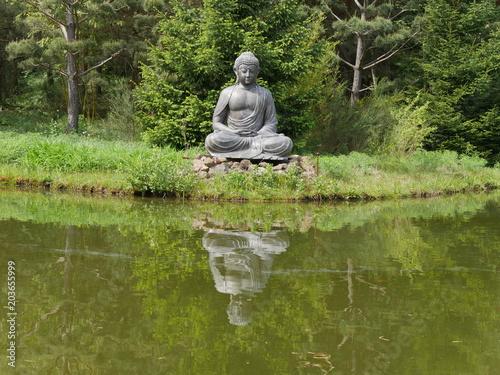 Plexiglas Boeddha Nepal-Himalaya Park