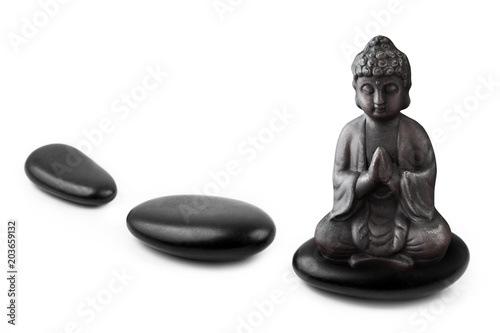 Plexiglas Boeddha Hot stones - Wellness - Buddha