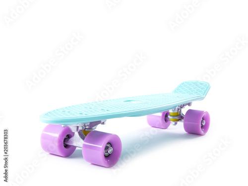 Plexiglas Skateboard plastic skateboard isolated on white background