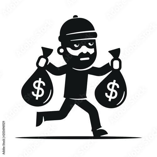 GamesAgeddon - Vector Set of Bank robbery. - Lizenzfreie Fotos ...