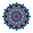 Abstract colorful ethnic styled flower pattern on white  background - mandala style illustration - 203704554