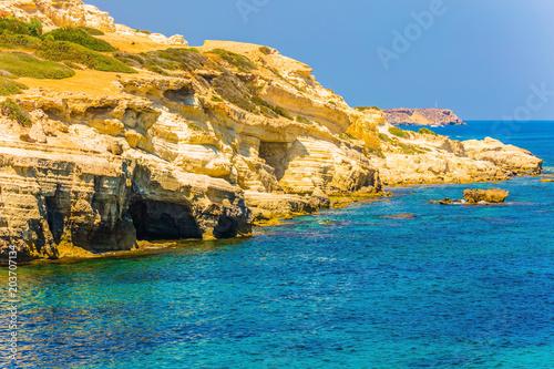 Plexiglas Cyprus Picturesque coastline