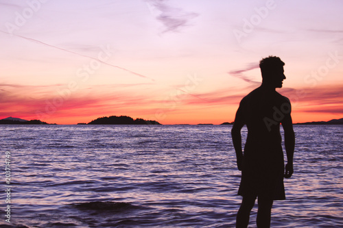 Plexiglas Strand Beautiful summer sunset at the beach