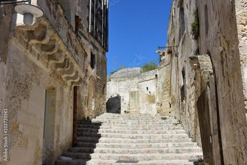 Fototapeta Italy, Basilicata, Matera, city of stones, Unesco heritage, capital of European culture 2019. View of the ancient city