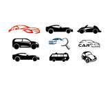 Set vector car logo, set vector automotive logo, set car logo collection, set car logo template
