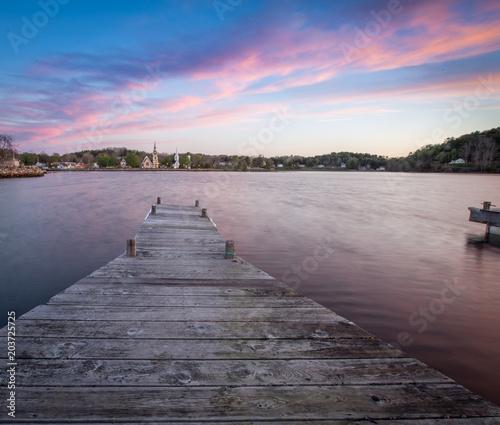 Plexiglas Canada wooden dock in Nova Scotia