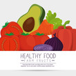 fruits and vegetables group pattern vector illustration design