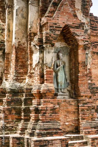Plexiglas Boeddha Buddhistische Statue im Wat Mahathat in Ayutthaya, Thailand