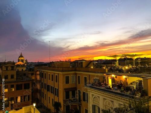 Coucher de soleil Piazza di Spagna Roma