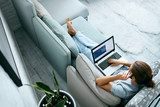 Young Man With Laptop At Home. - 203758757