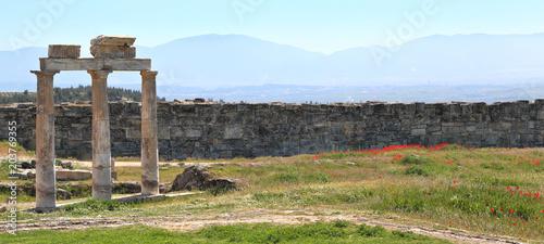 Foto Murales Remains of Roman Ruins at Pamukkale, Turkey