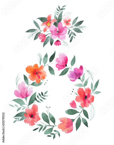 aquarelle-obraz-kwiatowy-wieniec-wykonany-z-dzikich-kwiatow