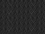 3D dark paper art Diamond Check Cross Rhomb Geometry