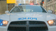 Police car responds to an emergency