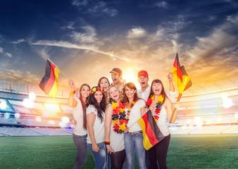 german fans in stadion