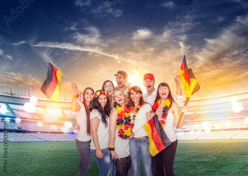 Fotobehang Voetbal german fans in stadion