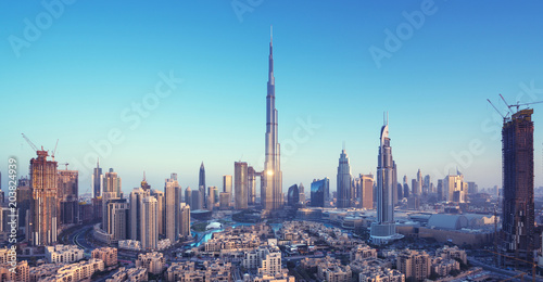 Wall mural Dubai skyline, United Arab Emirates