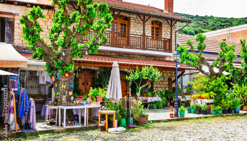 Fotobehang Freesurf Traditional villages of Cyprus island - mountain picturesque Omodos