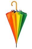 Rainbow umbrella on white - 203839345