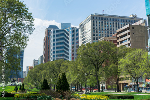 Aluminium Chicago Chicago Park Downtown Garden