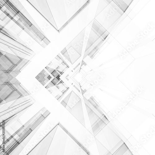 Architektura streszczenie tło. 3d rendering