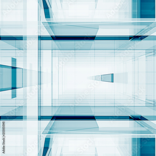 Abstract cubes 3D rendering